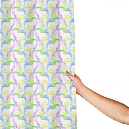 Cardigan Watercolor Silhouette Shower Curtain , Shower Bathroom Curtain 55x72 Inch Waterproof Fabric with Hooks , Wildly used in bathroom and hotel etc.