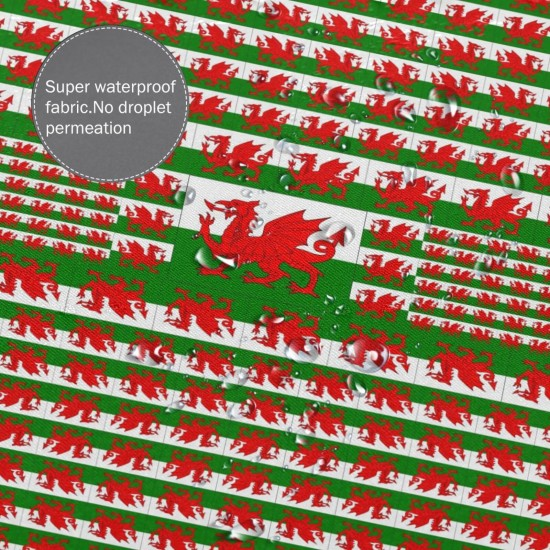 Wales Shower Curtain , Shower Bathroom Curtain 55x72 Inch Waterproof Fabric with Hooks , Wildly used in bathroom and hotel etc.