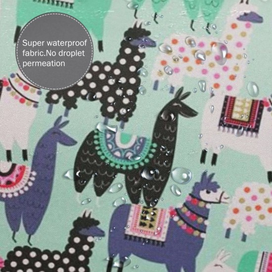 Alpaca Shower Curtain , Shower Bathroom Curtain 55x72 Inch Waterproof Fabric with Hooks , Wildly used in bathroom and hotel etc.