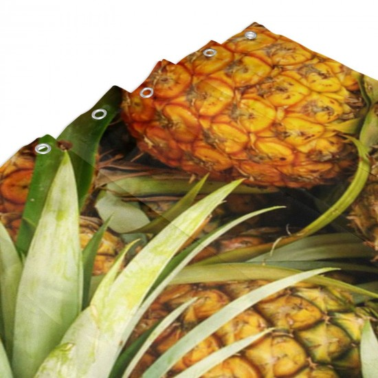 A Lot Of Pineapple Fruit Shower Curtain , Shower Bathroom Curtain 55x72 Inch Waterproof Fabric with Hooks , Wildly used in bathroom and hotel etc.