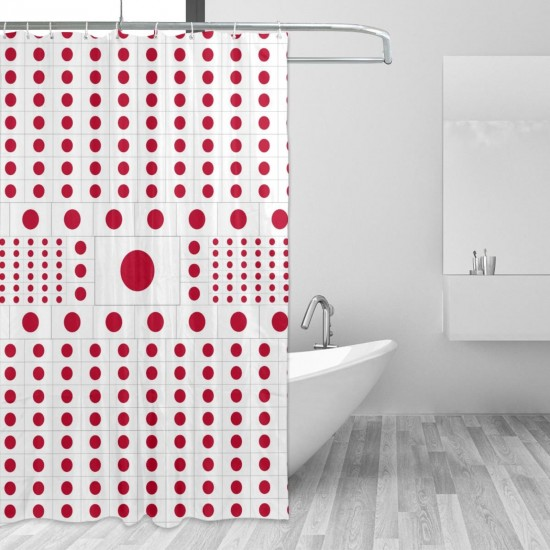 Japan Shower Curtain , Shower Bathroom Curtain 55x72 Inch Waterproof Fabric with Hooks , Wildly used in bathroom and hotel etc.