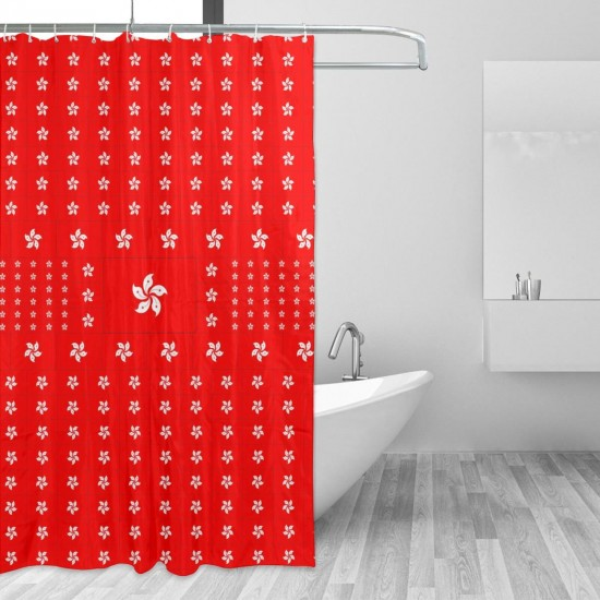 Hong Kong Shower Curtain , Shower Bathroom Curtain 55x72 Inch Waterproof Fabric with Hooks , Wildly used in bathroom and hotel etc.