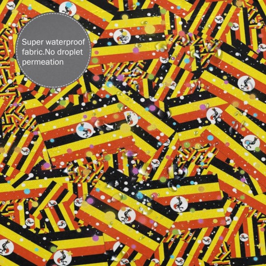 Uganda Shower Curtain , Shower Bathroom Curtain 55x72 Inch Waterproof Fabric with Hooks , Wildly used in bathroom and hotel etc.
