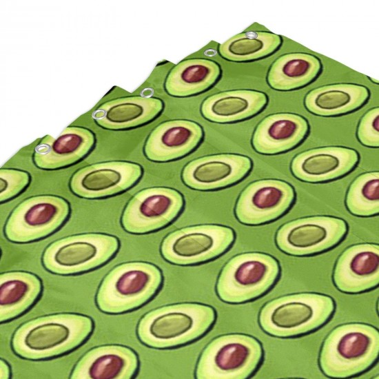Avocado Greenery Shower Curtain , Shower Bathroom Curtain 55x72 Inch Waterproof Fabric with Hooks , Wildly used in bathroom and hotel etc.