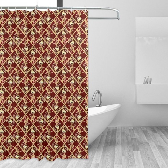 Art Deco Torch, Raise The Light Shower Curtain , Shower Bathroom Curtain 55x72 Inch Waterproof Fabric with Hooks , Wildly used in bathroom and hotel etc.