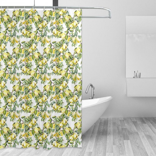 Apples Pattern Shower Curtain , Shower Bathroom Curtain 55x72 Inch Waterproof Fabric with Hooks , Wildly used in bathroom and hotel etc.