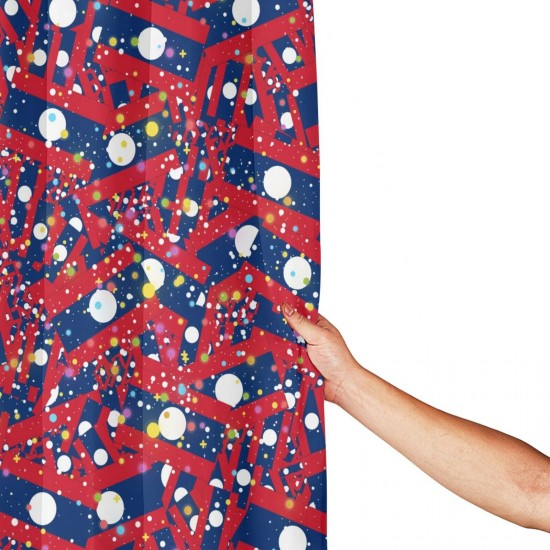 Laos Shower Curtain , Shower Bathroom Curtain 55x72 Inch Waterproof Fabric with Hooks , Wildly used in bathroom and hotel etc.