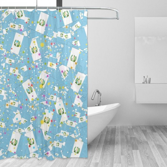 Guatemala Shower Curtain , Shower Bathroom Curtain 55x72 Inch Waterproof Fabric with Hooks , Wildly used in bathroom and hotel etc.