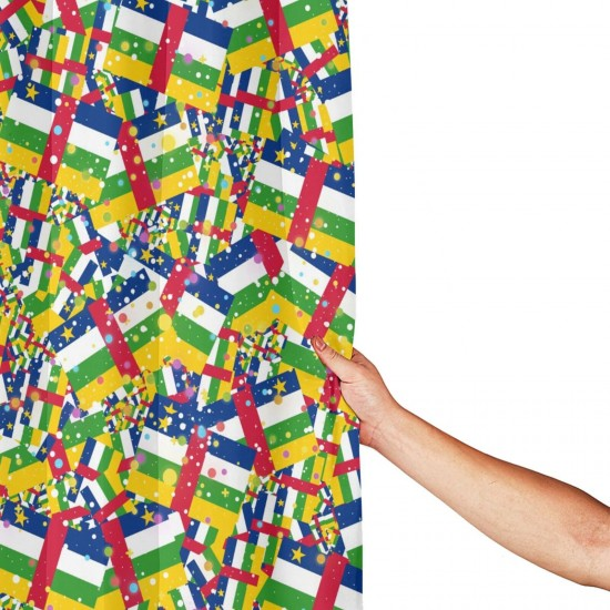 Central African 副本 Shower Curtain , Shower Bathroom Curtain 55x72 Inch Waterproof Fabric with Hooks , Wildly used in bathroom and hotel etc.
