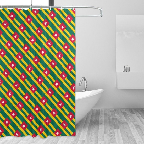 Togo Shower Curtain , Shower Bathroom Curtain 55x72 Inch Waterproof Fabric with Hooks , Wildly used in bathroom and hotel etc.
