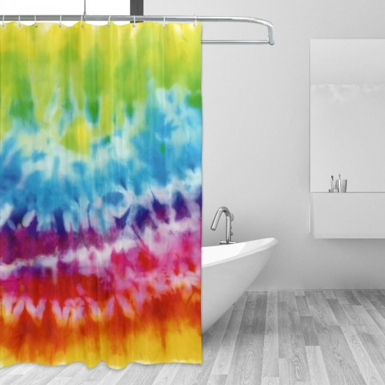 Bandhnu Shower Curtain , Shower Bathroom Curtain 55x72 Inch Waterproof Fabric with Hooks , Wildly used in bathroom and hotel etc.