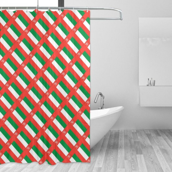 Oman Shower Curtain , Shower Bathroom Curtain 55x72 Inch Waterproof Fabric with Hooks , Wildly used in bathroom and hotel etc.