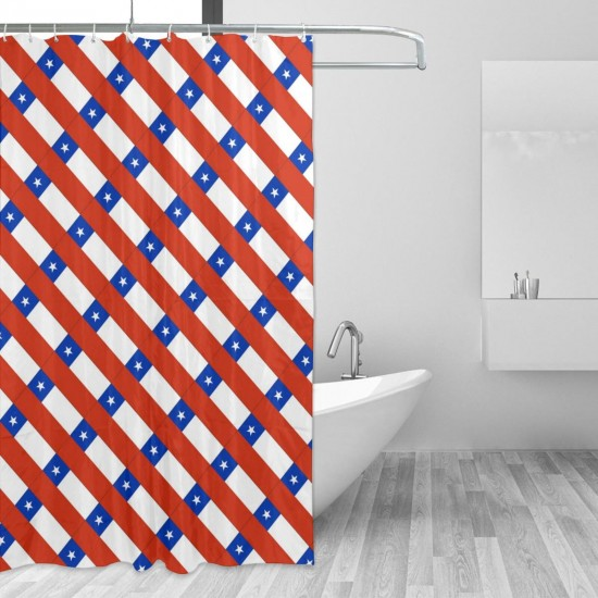 Chile Shower Curtain , Shower Bathroom Curtain 55x72 Inch Waterproof Fabric with Hooks , Wildly used in bathroom and hotel etc.