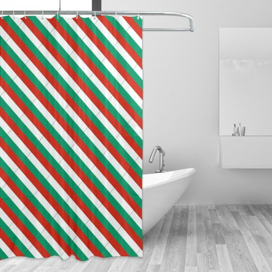 Bulgaria Shower Curtain , Shower Bathroom Curtain 55x72 Inch Waterproof Fabric with Hooks , Wildly used in bathroom and hotel etc.