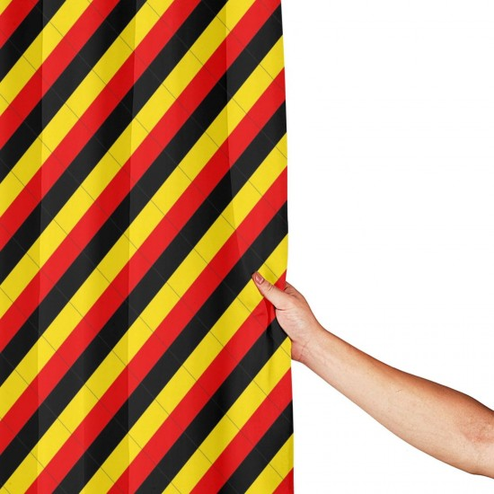Belgium Shower Curtain , Shower Bathroom Curtain 55x72 Inch Waterproof Fabric with Hooks , Wildly used in bathroom and hotel etc.