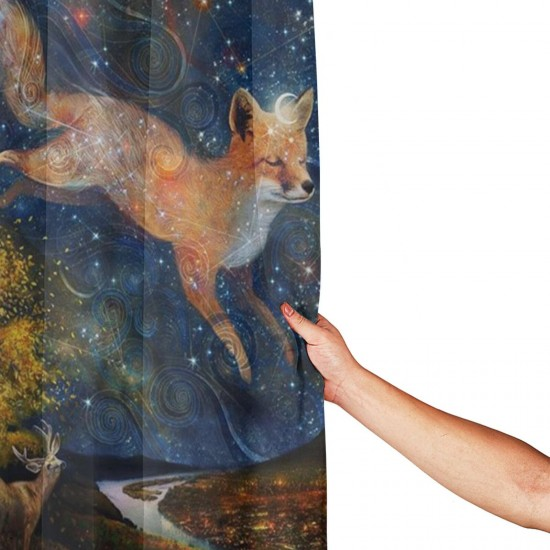 Star Fox Shower Curtain , Shower Bathroom Curtain 55x72 Inch Waterproof Fabric with Hooks , Wildly used in bathroom and hotel etc.