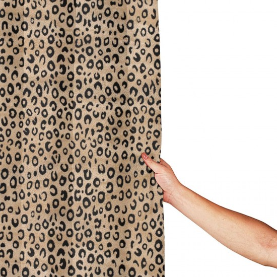 Black Ivory Animal Print Shower Curtain , Shower Bathroom Curtain 55x72 Inch Waterproof Fabric with Hooks , Wildly used in bathroom and hotel etc.