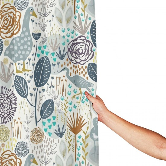 Birds And Blooms Design Shower Curtain , Shower Bathroom Curtain 55x72 Inch Waterproof Fabric with Hooks , Wildly used in bathroom and hotel etc.