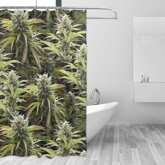 Big Beautiful Buds Shower Curtain , Shower Bathroom Curtain 55x72 Inch Waterproof Fabric with Hooks , Wildly used in bathroom and hotel etc.
