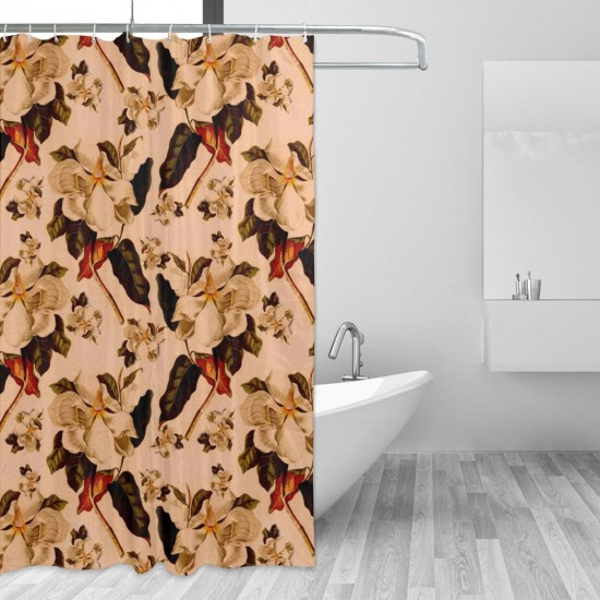 Seamless Texture Flower (5) Shower Curtain , Shower Bathroom Curtain 55x72 Inch Waterproof Fabric with Hooks , Wildly used in bathroom and hotel etc.