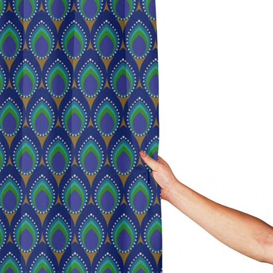 Peacock Pattern Shower Curtain , Shower Bathroom Curtain 55x72 Inch Waterproof Fabric with Hooks , Wildly used in bathroom and hotel etc.