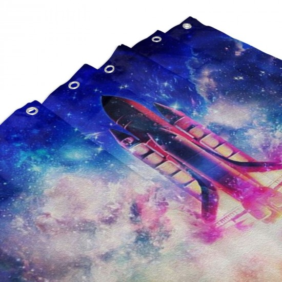 Howl At The Stars Shower Curtain , Shower Bathroom Curtain 55x72 Inch Waterproof Fabric with Hooks , Wildly used in bathroom and hotel etc.