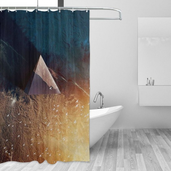 First Light Shower Curtain , Shower Bathroom Curtain 55x72 Inch Waterproof Fabric with Hooks , Wildly used in bathroom and hotel etc.