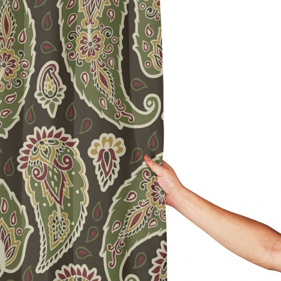 Bohemia Style Shower Curtain , Shower Bathroom Curtain 55x72 Inch Waterproof Fabric with Hooks , Wildly used in bathroom and hotel etc.