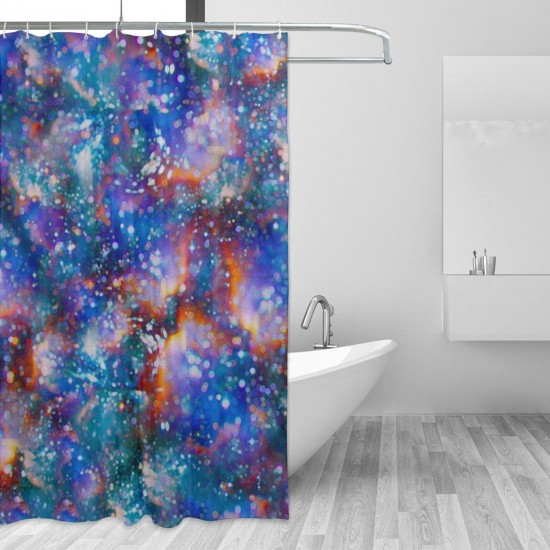 Atomic Haze Shower Curtain , Shower Bathroom Curtain 55x72 Inch Waterproof Fabric with Hooks , Wildly used in bathroom and hotel etc.