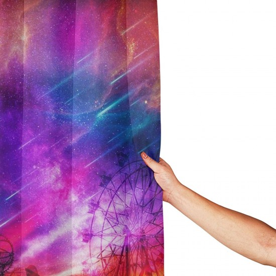 A Night To Remember Shower Curtain , Shower Bathroom Curtain 55x72 Inch Waterproof Fabric with Hooks , Wildly used in bathroom and hotel etc.