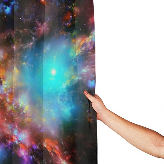 Galaxy Shower Curtain , Shower Bathroom Curtain 55x72 Inch Waterproof Fabric with Hooks , Wildly used in bathroom and hotel etc.