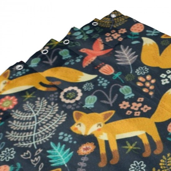 Fox Pattern Shower Curtain , Shower Bathroom Curtain 55x72 Inch Waterproof Fabric with Hooks , Wildly used in bathroom and hotel etc.