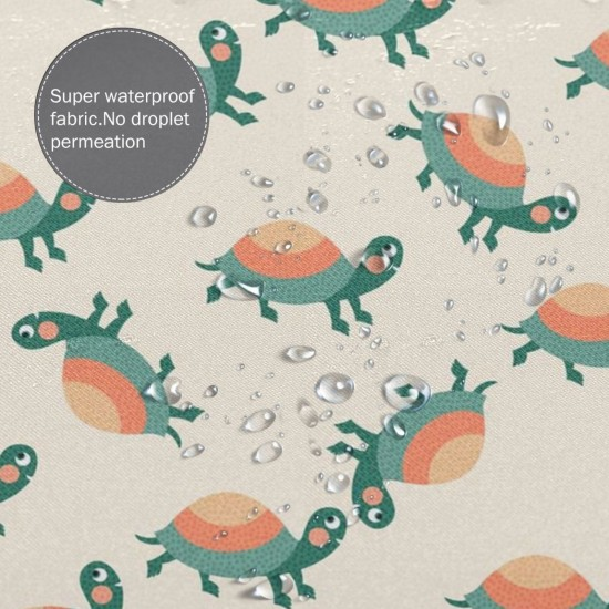 Cartoon Turtle Shower Curtain , Shower Bathroom Curtain 55x72 Inch Waterproof Fabric with Hooks , Wildly used in bathroom and hotel etc.