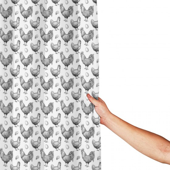 Chicken Breeding Pattern Shower Curtain , Shower Bathroom Curtain 55x72 Inch Waterproof Fabric with Hooks , Wildly used in bathroom and hotel etc.