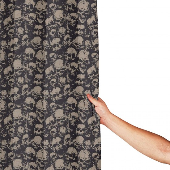 Grunge Scary Skulls Shower Curtain , Shower Bathroom Curtain 55x72 Inch Waterproof Fabric with Hooks , Wildly used in bathroom and hotel etc.