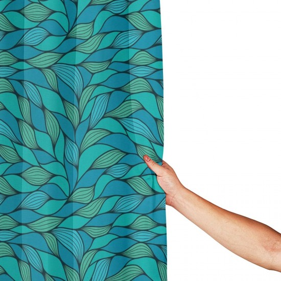 Abstract Wave Design Shower Curtain , Shower Bathroom Curtain 55x72 Inch Waterproof Fabric with Hooks , Wildly used in bathroom and hotel etc.