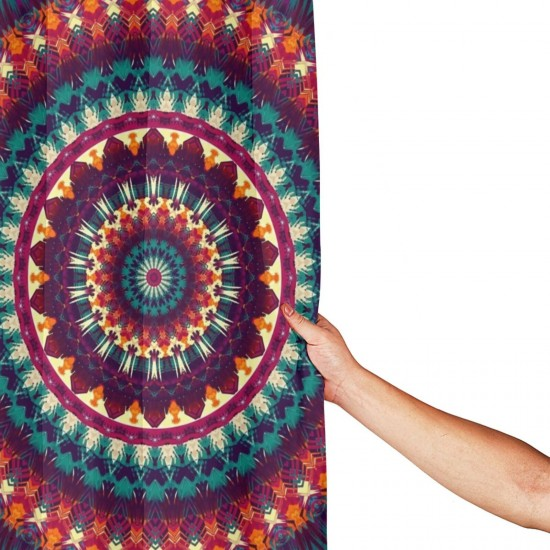 Colorful Mandala Shower Curtain , Shower Bathroom Curtain 55x72 Inch Waterproof Fabric with Hooks , Wildly used in bathroom and hotel etc.