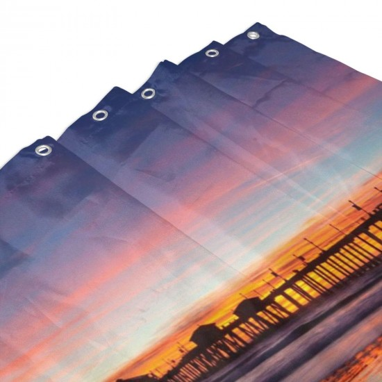 Sunset Shower Curtain , Shower Bathroom Curtain 55x72 Inch Waterproof Fabric with Hooks , Wildly used in bathroom and hotel etc.