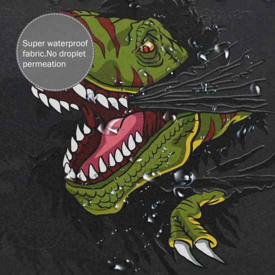 Cool T-rex Dinosaur Shower Curtain , Shower Bathroom Curtain 55x72 Inch Waterproof Fabric with Hooks , Wildly used in bathroom and hotel etc.
