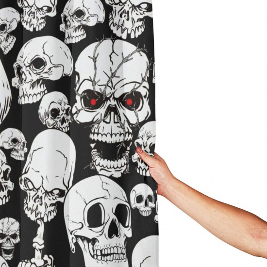Cool Dead Skull Pattern Shower Curtain , Shower Bathroom Curtain 55x72 Inch Waterproof Fabric with Hooks , Wildly used in bathroom and hotel etc.