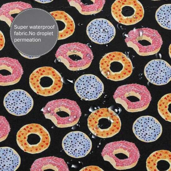 Colour Donut Shower Curtain , Shower Bathroom Curtain 55x72 Inch Waterproof Fabric with Hooks , Wildly used in bathroom and hotel etc.