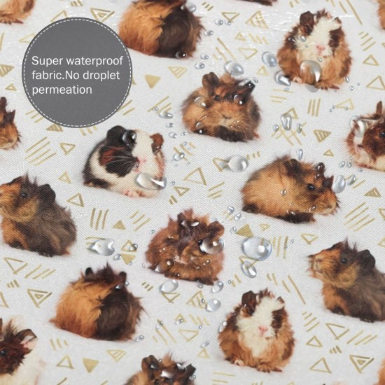 Guinea Pig Pattern Shower Curtain , Shower Bathroom Curtain 55x72 Inch Waterproof Fabric with Hooks , Wildly used in bathroom and hotel etc.