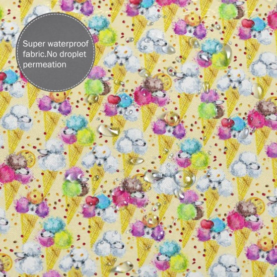 Cute Dog Watercolor Sweet Shower Curtain , Shower Bathroom Curtain 55x72 Inch Waterproof Fabric with Hooks , Wildly used in bathroom and hotel etc.