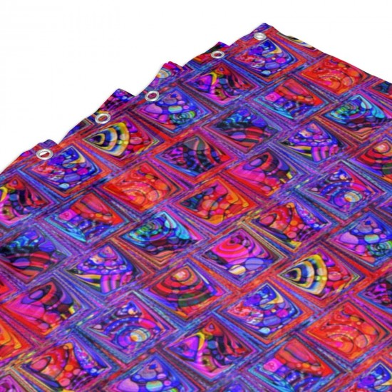 CRAZY ICE CUBES RAINBOW CANDY PARADISE ORANGE PURPLE Shower Curtain , Shower Bathroom Curtain 55x72 Inch Waterproof Fabric with Hooks , Wildly used in bathroom and hotel etc.