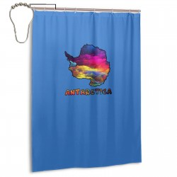 Antarctica Shower Curtain , Shower Bathroom Curtain 55x72 Inch Waterproof Fabric with Hooks , Wildly used in bathroom and hotel etc.