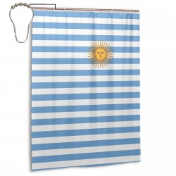 Argentina Shower Curtain , Shower Bathroom Curtain 55x72 Inch Waterproof Fabric with Hooks , Wildly used in bathroom and hotel etc.