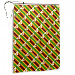 Zimbabwe Shower Curtain , Shower Bathroom Curtain 55x72 Inch Waterproof Fabric with Hooks , Wildly used in bathroom and hotel etc.