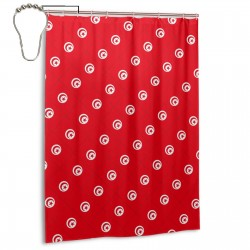 Tunisia Shower Curtain , Shower Bathroom Curtain 55x72 Inch Waterproof Fabric with Hooks , Wildly used in bathroom and hotel etc.