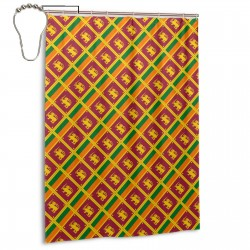 Sri Lanka Shower Curtain , Shower Bathroom Curtain 55x72 Inch Waterproof Fabric with Hooks , Wildly used in bathroom and hotel etc.