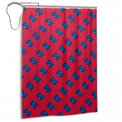 Samoa Shower Curtain , Shower Bathroom Curtain 55x72 Inch Waterproof Fabric with Hooks , Wildly used in bathroom and hotel etc.